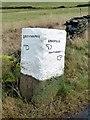 SK2793 : Guide stone above Bradfield by Graham Hogg
