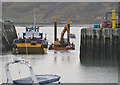 TA0488 : Dredger at work in the harbour entrance, Scarborough by Pauline E