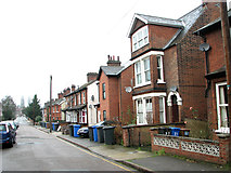 TM1543 : Cottages in Gippeswyck Road, Ipswich by Evelyn Simak