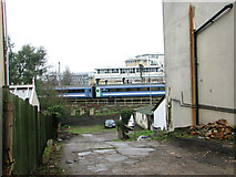 TM1543 : View towards Ipswich railway station from Gippeswyck Road by Evelyn Simak