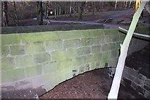 SE2741 : Bridge at dam head, Golden Acre Park by Rick Carn