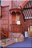 TQ2572 : St Luke, Ryfold Road, Wimbledon Park - Pulpit by John Salmon