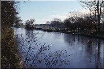 SJ6641 : Audlem: Shropshire Union Canal above lock 1 by Christopher Hilton