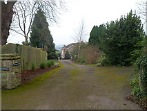 ST5192 : Entrance drive to three houses, Pwllmeyric by Jaggery