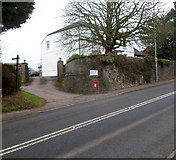 ST5192 : Wall postbox on the corner of Pwllmeyric House by Jaggery