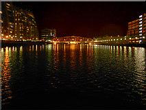 SJ8097 : Salford Quays, Huron Basin and Detroit Bridge by David Dixon