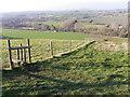 ST8716 : Stile and dog gate, Fontmell Down by Maigheach-gheal