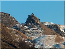 SK1491 : The Tower, Alport Castles viewed from the upper Alport valley by Neil Theasby