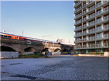 SJ8297 : Railway Viaduct by David Dixon