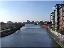 SJ8297 : Manchester Ship Canal (River Irwell) by David Dixon
