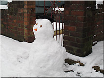 TQ4077 : Snowman with hat by Stephen Craven