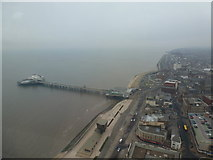 SD3036 : Blackpool: looking down on the North Pier by Chris Downer