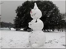 TQ3977 : Drunken snowman by Stephen Craven