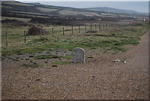SY5088 : Milestone, South West Coast Path, Cogden Beach by N Chadwick