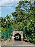 SJ9214 : Footpath under the railway at Penkridge, Staffordshire by Roger  Kidd