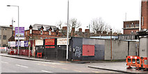J3574 : Vacant site and shops, Ballymacarrett, Belfast by Albert Bridge