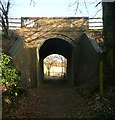 SU8395 : Footpath under the railway by Graham Horn