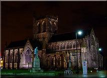 NS4863 : Floodlit Paisley Abbey by Thomas Nugent