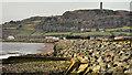 J5073 : Sea defences, Newtownards (4) by Albert Bridge
