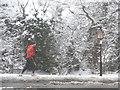 TQ2996 : Jogger, Bramley Road, London N14 by Christine Matthews