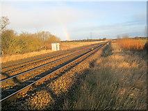 SK8259 : Railway north of Langford by Trevor Rickard