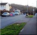 ST3090 : Temporary traffic lights at the south end of Rowan Way, Malpas, Newport by Jaggery