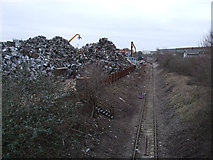 SU1686 : EMR scrap yard and disused GWR Highworth branch line by Vieve Forward