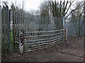 SU1686 : Gates blocking disused GWR Highworth branch line by Vieve Forward