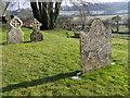 ST9723 : Lichen on the gravestones, St Mary's Churchyard by Maigheach-gheal