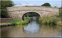 SJ8021 : Barn Bridge north-west of Gnosall Heath, Staffordshire by Roger  Kidd