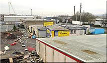 J3272 : Warehouses, Adelaide, Belfast by Albert Bridge