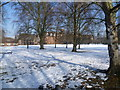 TL4656 : Homerton College in the snow by Marathon