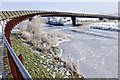 TL2398 : Shanks Millennium Bridge over frozen Nene by Julian Dowse
