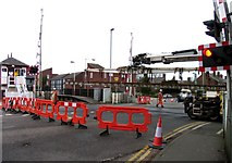 SK8508 : Rail Action at Oakham 15:The crane takes the points to the working site by Andrew Tatlow