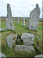 NB2133 : Calanais / Callanish I - Opened tomb and Eastern Arm by Rob Farrow