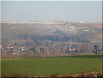 ST8412 : Hambledon Hill: a distant view on a wintry day by Chris Downer