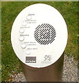 ST4690 : Aural information point, Caerwent Visitor Centre by Jaggery