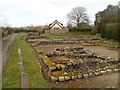 ST4690 : Foundations of ancient Roman shops and houses, Pound Lane, Caerwent by Jaggery
