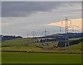 NO2403 : Pylons near Pitkevy Farm by William Starkey