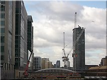 TQ3780 : Construction site in West India Dock by David Anstiss