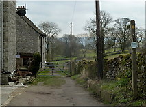 SK2276 : Start of path to Stoney Middleton from Eyam by Andrew Hill