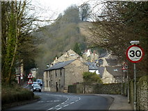SK2375 : Entering Stoney Middleton from the east by Andrew Hill