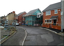 ST3288 : New houses, Exeter Road, Newport by Jaggery