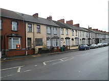 ST3288 : Houses in the SE corner of Church Road, Newport by Jaggery