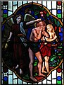 TQ3198 : St John the Baptist, Clay Hill, Enfield - Stained glass window by John Salmon