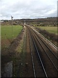SX8769 : The railway to Newton Abbot by David Smith