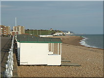 TQ7407 : Beach huts, Bexhill by Malc McDonald