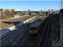 NZ2564 : Tyne & Wear Metro train, off New Bridge Street by Andrew Curtis