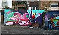 TQ3385 : Graffiti artist at work, Shoreditch by Julian Osley