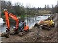 H4572 : Reinforced pile, Drumragh River, Omagh by Kenneth  Allen